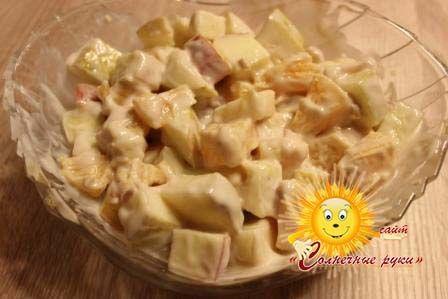 Фруктовий салат Фруктовий салат з йогуртом Салат з фруктів