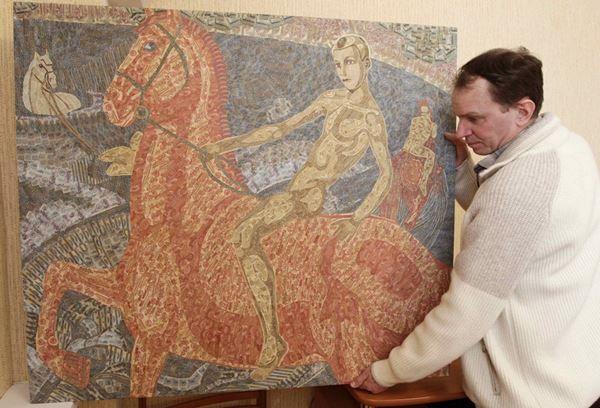Ігор Ариничев. Колаж з трьох тисяч радянських банкнот