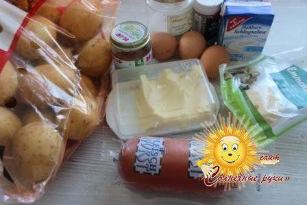 Картопляна запіканка з ковбасою