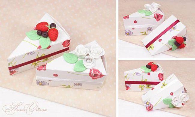 Коробочки у вигляді шматочків торта