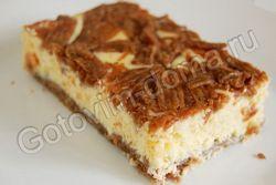 Торт тертий з сирною начинкою