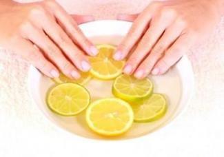 Ванночки з лимоном для нігтів