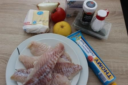 Запечене філе риби.